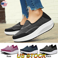 Fashion Women Air Cushion Sneakers Breathable Mesh Walking Comfy Running Shoes