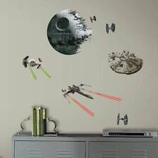 NEW-Disney STAR WARS VII Classic Space Ships Peel & Stick 21 Wall Decals