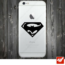 Sticker Autocollant Apple Iphone 4 5 6  Lot de 2X - BATMAN vs SUPERMAN logo IPH3