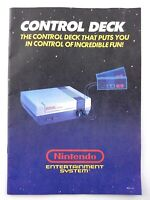 Control Deck NES Nintendo Entertainment System 1988 Instruction Manual Q575