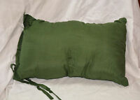 Camp fleece pack pillow size 14 x 9 inches color green ( refbte#36 )