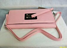"#CSPEC ROWALLAN of SCOTLAND NEW ""SEDONA"" PINK NYLON CONVERTIBLE CLUTCH PURSE BAG"
