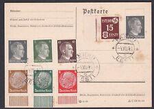World War II German Occupation of Estonia. 1941 stamped postcard.