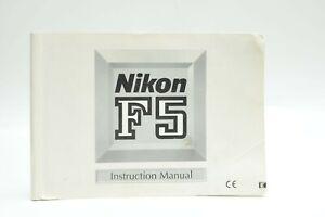 Nikon F5 User Manual Guide Instruction Original