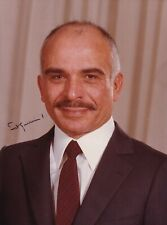 More details for king hussein i of jordan autograph hand signed photograph original royal
