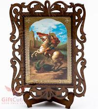 Wooden Icon of Saint George and the Dragon Икона Святой Георгий Победоносец