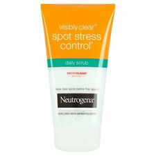 5 X 150ml Neutrogena Visibly Clear Spot Stress Control Daily Scrub