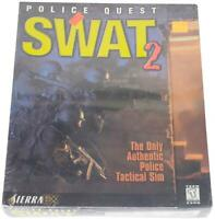 POLICE QUEST: SWAT 2 Sealed 90s BIG BOX PC VIDEO GAME CD-Rom 1998 Win 95/98 CIB