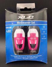XLC Mini Beamer Bike LED Light Set Front & Rear Pink New