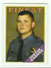 TOPPS HERITAGE 2009 Trading Card #50 {Finest} Justin Garner Small Town Hero LN