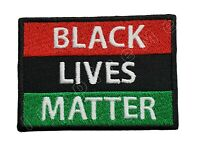 Pan African Flag Black Lives Matter Embroidered Iron On Patch Hook & Loop BLM