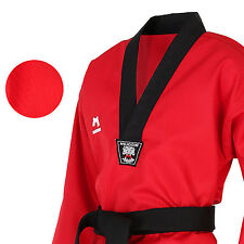 MUDOIN Taekwondo Coloured Suits Uniforms Dobok 3 Color 100~190 V neck Stripe MMA