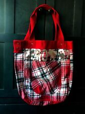Aeropostale Red Plaid Tote Bag