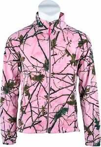 Women Semi Fitted Fleece Weatherproof Layering Jacket CAMO & Pink -Purple -Green