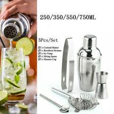 5Pcs Stainless Steel Cocktail Shaker Maker Mixer Bar Drinks Gift Bartender Sets