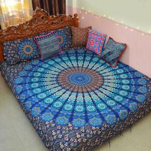 Indian Cotton Duvet Doona Cover Mandala Hippie Bohemian Quilt +2 pillow Cover