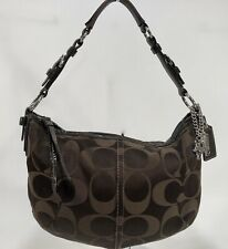 COACH SOHO Brown Signature C Hobo Shoulder Handbag Purse #12675