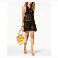 Miken Women's Scoop neckline Knee length Swimsuit Cover Up Dress