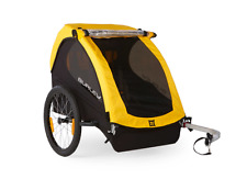Burley 2 Kids Outdoor Bicycle Trailer, Comfortable & Foldable Bike, in Yellow
