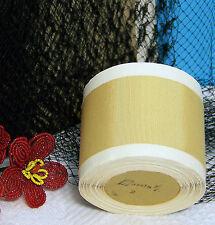 "BTY Vintage 2.0"" Lt Gold Cotton Silk Grosgrain Ribbon Petersham Hat Millinery"