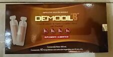 DEMODIL B~L-Lysine~B Complex Vitamins~B1 B2 B6 B12~10 ampoules 10ml each~NEW