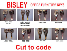 Replacement or Spare Bisley Keys Cut to Code - locker,cabinet,desk,tambour