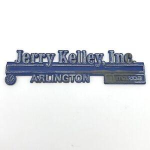 VW DEALER BADGE MAZDA JERRY KELLEY ARLINGTON TEXAS USA BEETLE GOLF OLDTIMER MX5