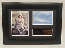 Game of Thrones COSTUME MOVIE MEMORABILIA Framed Display Signed Daenerys Targary