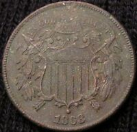 1868 TWO CENT PIECE - XF DETAILS! #15130