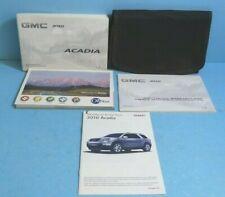 10 2010 GMC Acadia owners manual