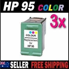 3x Color Ink for HP 95 C8766WA Photosmart 325 335 375 385 425 475 2570 7830