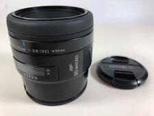 Minolta Maxxum AF 50mm F2.8 macro lens 95% condition perfect optic