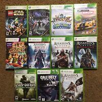 XBOX 360 Assassins Creed Call Of Duty Star Wars Skylanders Lot Of 11 Video Games