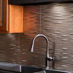 Fasade 18in x 24in Waves Backsplash Panel (5 Pack)