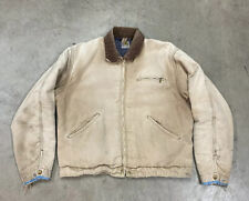 Vintage 1970's Carhartt Work Jacket Distressed Blanket Lined 42 Made In USA