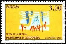 ANDORRA FRANCESA 1998 504 EUROPA FIESTA MUSICA 1v.