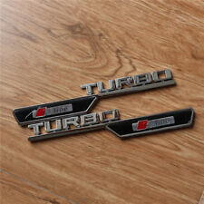 Pair TURBO S line ABS Plastic Decal Side Sticker Emblem Badge Quattro RS Sports