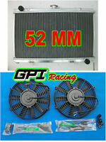 aluminum radiator for Nissan Silvia S13 SR20DET 1989-1994 MT 90 91 92 93 &fan