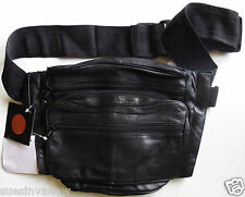 Concealed Weapons Gun Case NEW Black Genuine Leather Storage Fannie Pack Hunting