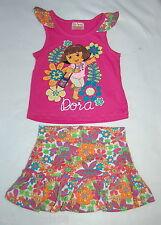 Toddler Girls SKort Outfit DORA Pink Floral Shirt NICKELODEAN 18 Mo