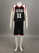 Kuroko no basuke Cosplay Seirin Kuroko Tetsuya #11 Basketball Jersey 1st Black