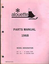 1968 ALOUETTE SNOWMOBILE PARTS MANUAL GT & GTE MODEL   (923)