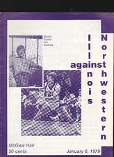 Illinois v Northwestern NCAA basketball program January 6 1979