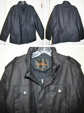 BEN SHERMAN Wax Coated Military Jacket Coat Hood L NWT