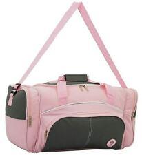 "22"" Holdall Luggage Weekend Duffel Cabin Travel Sports Gym Bag Case Pink"