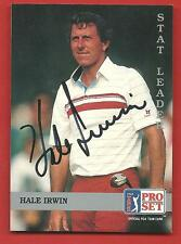1992  PRO  SET   HALE  IRWIN    HAND  SIGNED  AUTOGRAPHED   !!