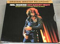 MFSL - Neil Diamond - HOT AUGUST NIGHT - rare 24k Gold UDCD 2-584 - EXC.!