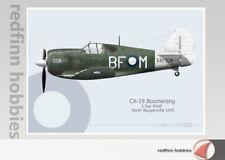 Warhead Illustrated CA-19 Boomerang 5 Sqn RAAF BF-M Aircraft Print
