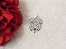 Sauce Tree Jelly Orchard Silver To Vl-Av Classic Pin Brooch Apple Stem Red Fruit