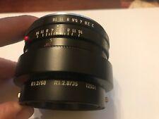 Leica R Mount Leitz Wetzlar Summicron-  1:2 50mm Vintage Camera Lens
